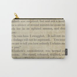 Pride and Prejudice  Vintage Mr. Darcy Proposal by Jane Austen   Carry-All Pouch
