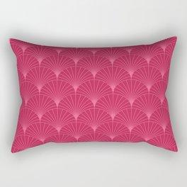 Mermaid Fans: Raspberry Rectangular Pillow