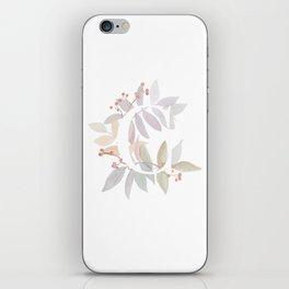 Rustic Floral Watercolor Monogram - Letter C Initial iPhone Skin