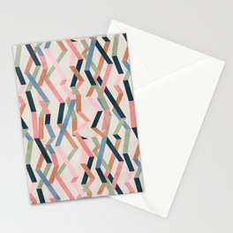 Straight Geometry Ribbons 1 Stationery Cards