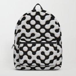 Black & White Truchet Tilling Mosaic Backpack
