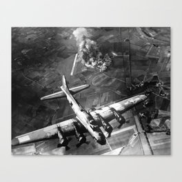B-17 Bomber Over Germany Painting Canvas Print
