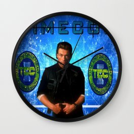 Cop Of The Future Wall Clock