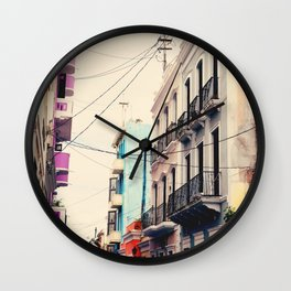 Colorful Buildings of Old San Juan, Puerto Rico Wall Clock