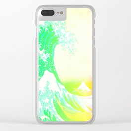 The Great Wave Rainbow Clear iPhone Case