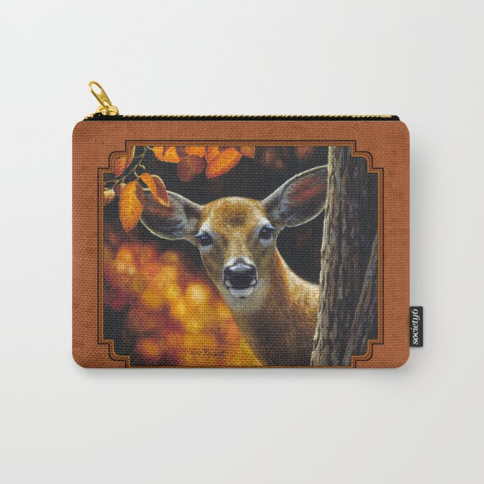 Whitetail Deer Face Carry-All Pouch
