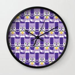 Super cute animals - Cute Kitty Cat Purple Wall Clock