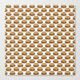 Hamburger - BBQ Doodle Pattern Canvas Print