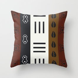 African Tribal Pattern No. 66 Throw Pillow