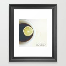 Toast & Tea  Framed Art Print