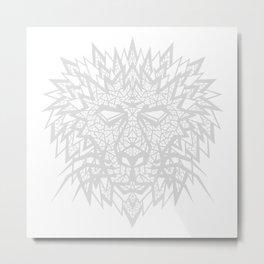 Heart of a Lion - Gray Metal Print