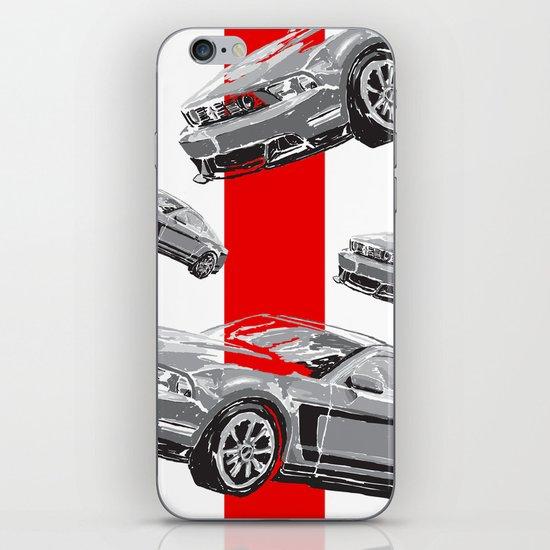 Mustang Digital Painting - Greyscale iPhone Skin