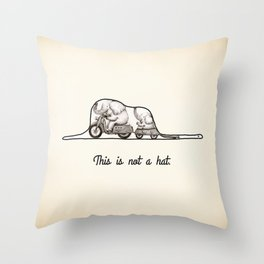 This is not a hat Throw Pillow