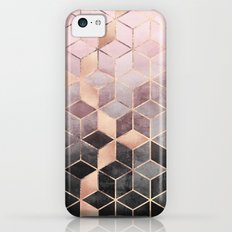 Pink And Grey Gradient Cubes Slim Case iPhone 5c