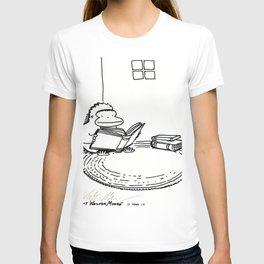 Ape on a Rug Enjoys a Book T-shirt