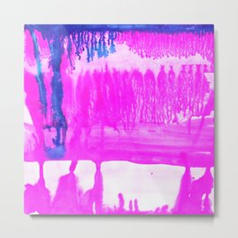 Dip Dye Hot Pink Metal Print