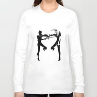durarara Long Sleeve T-shirts featuring Shizuo & Celty by Prince Of Darkness