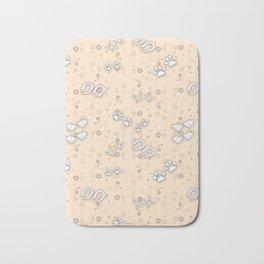 Champagne Baby Animal Tracks Pattern Bath Mat