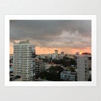 buildings Art Prints featuring Buildings by mowiskas