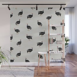 Guinea fowl bird pattern Wall Mural