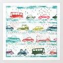 cars in the rain by alicjanikodem