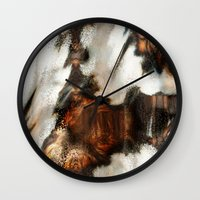 blankets Wall Clocks featuring Winter Soft by Moody Muse