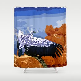 Vulture Spirit Guide Shower Curtain