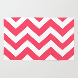 Magic Potion - pink color - Zigzag Chevron Pattern Rug