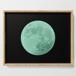 TEAL MOON // BLACK SKY Serving Tray