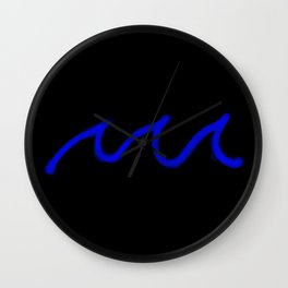 Blue waves Wall Clock