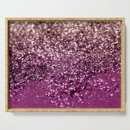 Sparkling BLACKBERRY CHAMPAGNE Lady Glitter #2 #decor #art #society6 Serving Tray