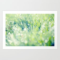 SPARKLING GRASS Art Print