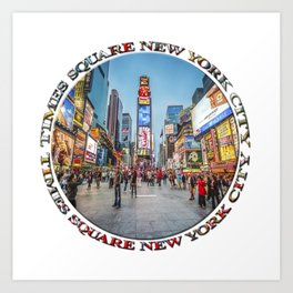 Times Square Sparkle (badge on white) Art Print