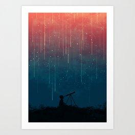 Meteor rain Kunstdrucke