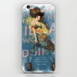 Knight of Wands (Amanda Palmer) iPhone Skin