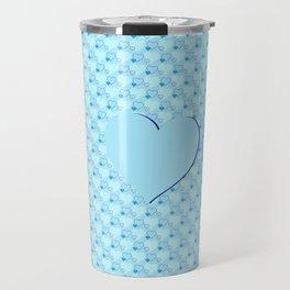 Blue hearts Travel Mug