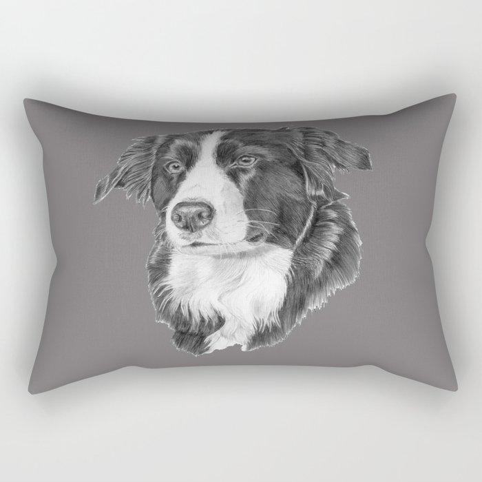 Border collie 2 Rectangular Pillow