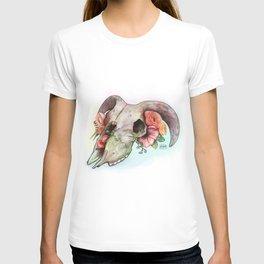 Goat skull & flowers T-shirt