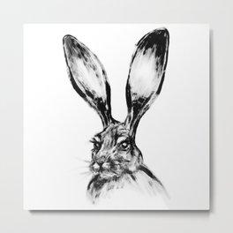 Rabbit Painting   Dry Brush   Animal Art   Animals Wall Art   Nature   Animal Forest Metal Print