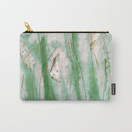 Spring garden in green and grey Carry-All Pouch