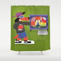 rap Shower Curtains featuring Rap Game by Lily's Factory