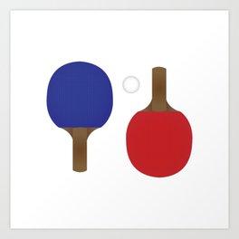 Ping Pong Rackets Art Print