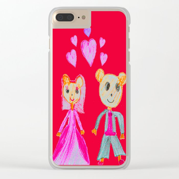 Simple Love | Kids Painting Clear iPhone Case
