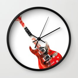 Bass Guitar - Buy Colorful Abstract Musical Instrument Wall Clock