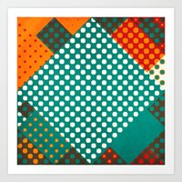 dots Art Prints featuring Dots by SensualPatterns