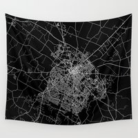 kentucky Wall Tapestries featuring Lexington map Kentucky by Line Line Lines