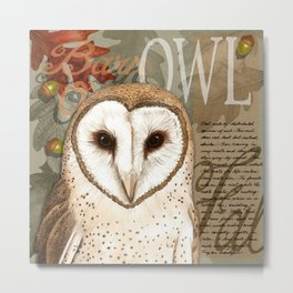 The Barn Owl Journal Metal Print