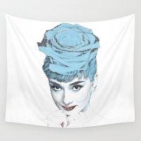audrey Wall Tapestries featuring Audrey by Susana Miranda ilustración