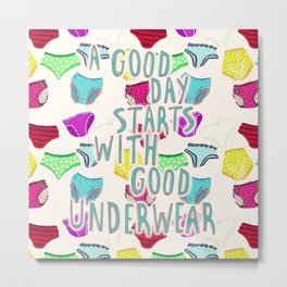 Underwear Happiness Metal Print