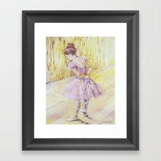 Olivia {ballet dancer} Framed Art Print